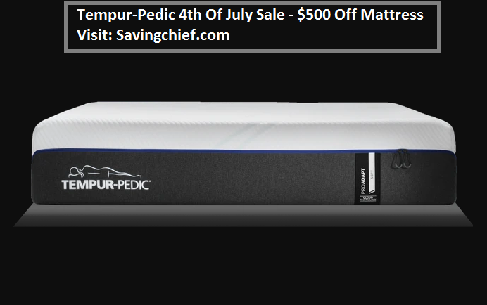 tempur pedic 4th of july sale