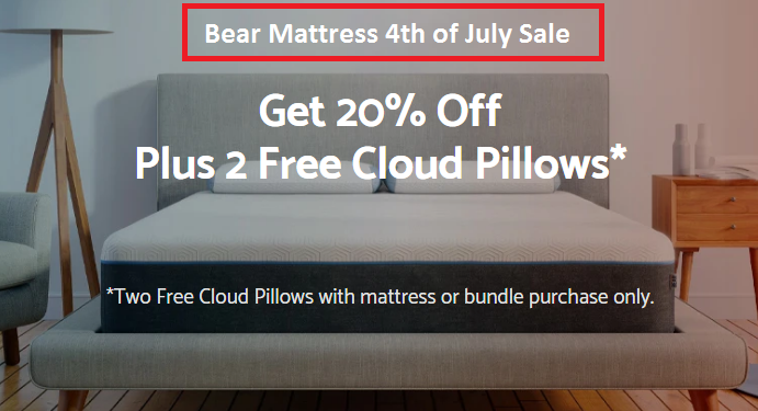 bear mattress 4th of July sale discount