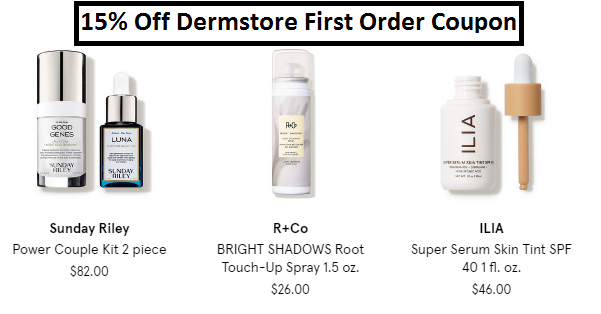 dermstore first order coupon code