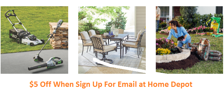 home depot sign up for email discount