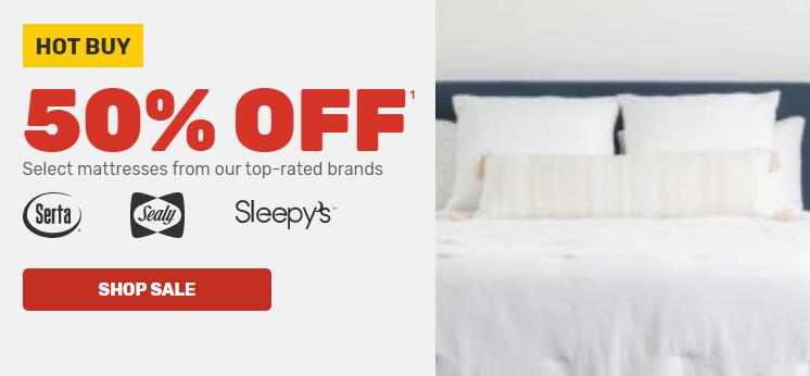 mattress firm 50 off sale