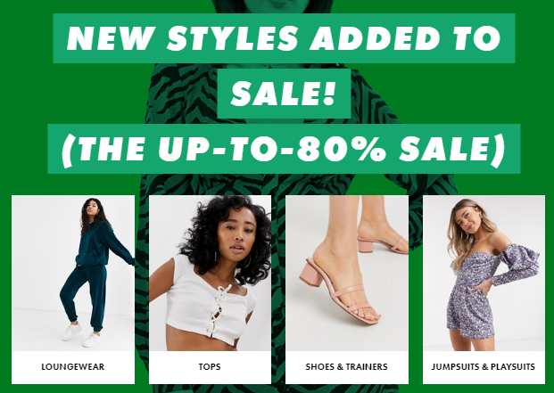 asos women's clearance sale discount