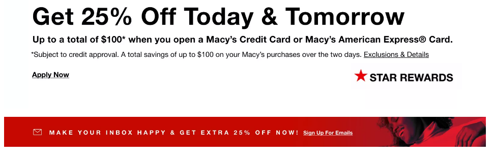 macy's credit card discount