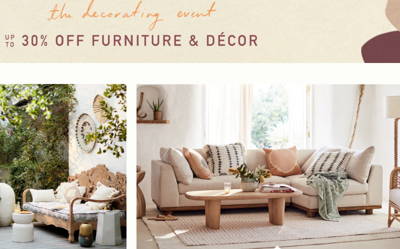 anthropologie furniture sale