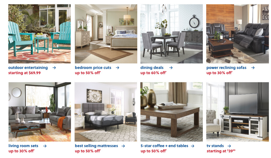 ashley furniture 4th of july sale discount