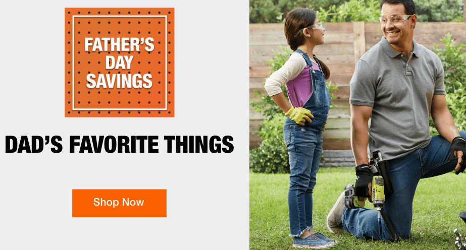 home depot father's day sale discount