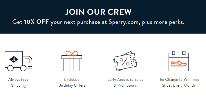 sperry email sign up offer