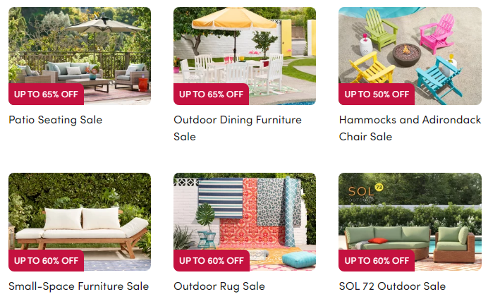 wayfair outdoor furniture sale