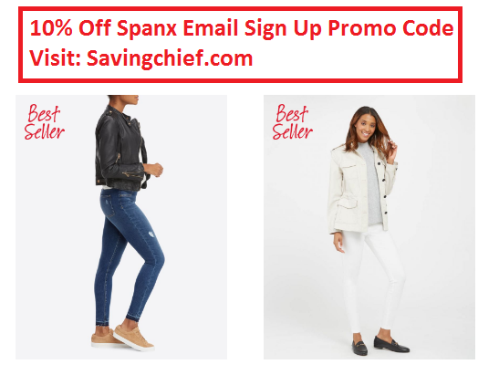 spanx email sign up promo code