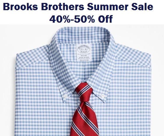 brooks brothers summer sale