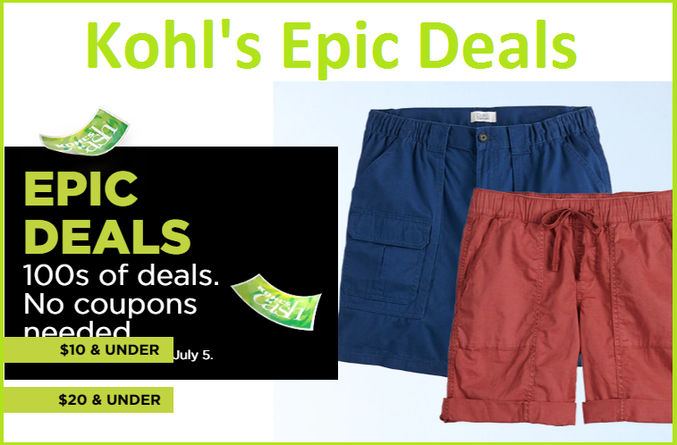 kohls epic deals