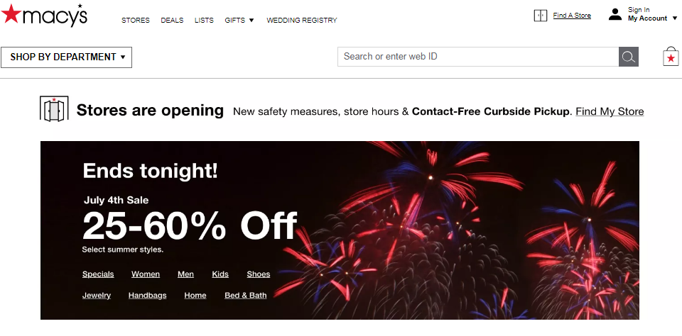 Macy's 4th July Sale 2020