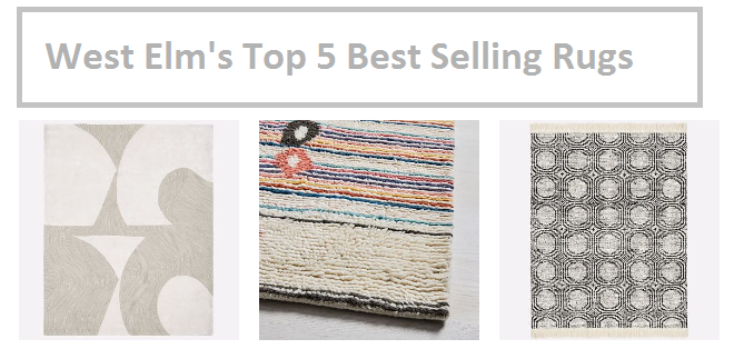 West Elm Best Selling Rugs