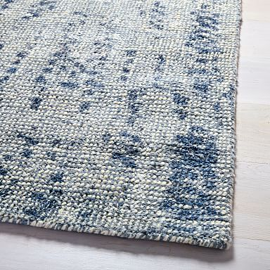 West Elm Distressed Foliage Rug for sale