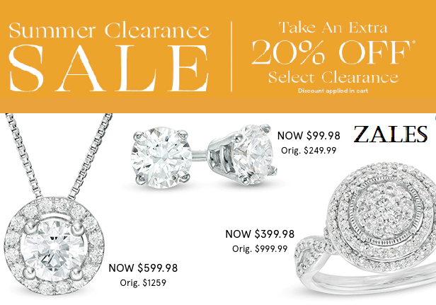 zales clearance sale jewelry
