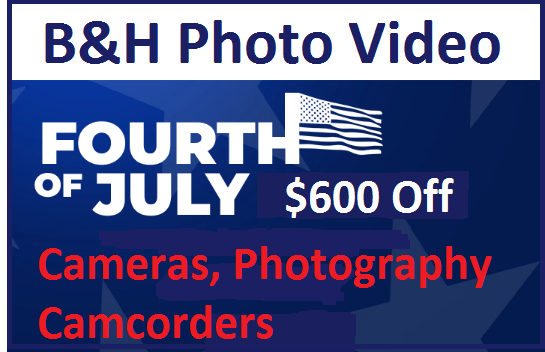 b&h photo video 4th july sale