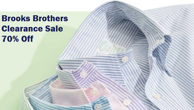 brooks brothers clearance sale