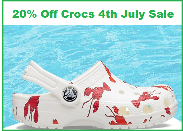 crocs 4th of july sale