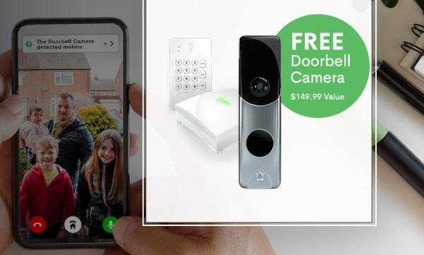 frontpoint free doorbell camera
