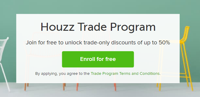houzz trade program discount