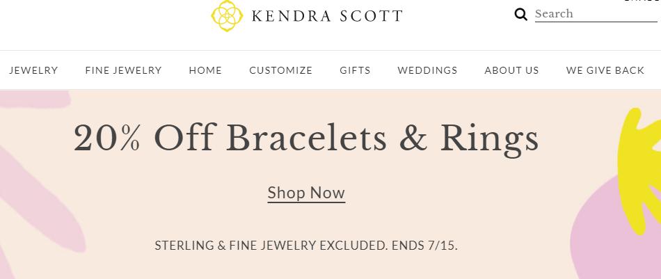 kendra scott bracelets and rings sale