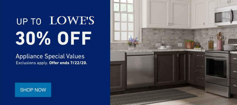 lowes appliances sale