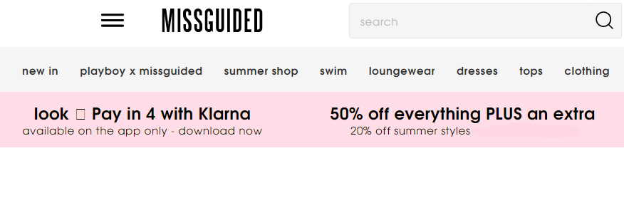 missguided summer sale