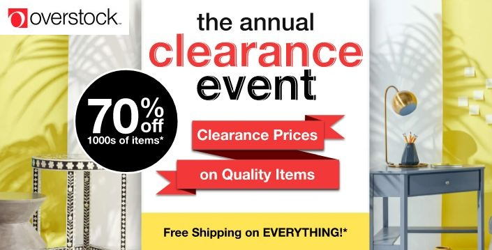 overstock annual clearance sale