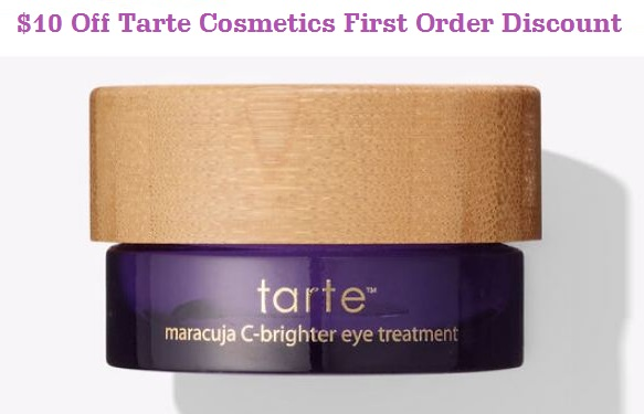 tarte cosmetics first order discount