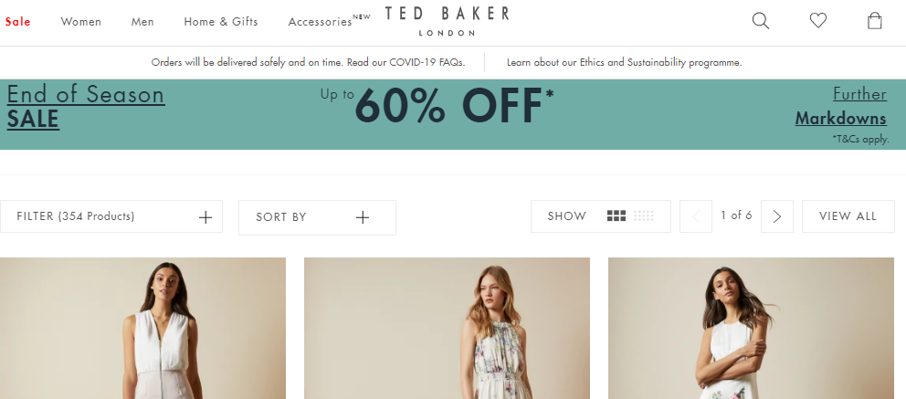 ted baker end of season sale