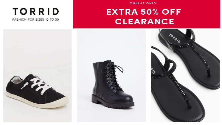 torrid clearance sale