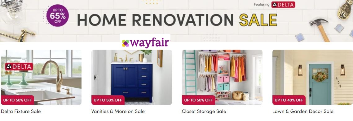 Wayfair Home Renovation Sale