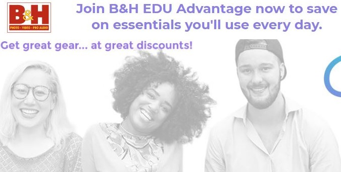 b and h photo student discount