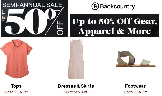 backcountry semi annual sale