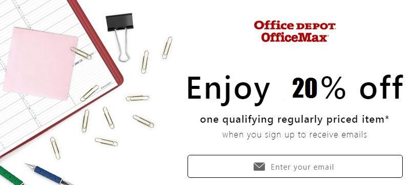office depot 20 off