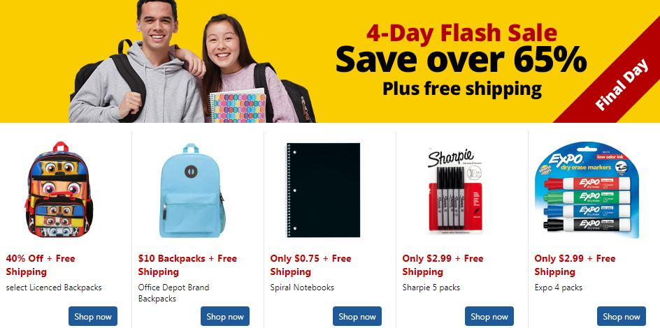 office depot back to school sales