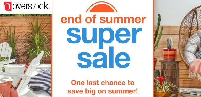 overstock end of summer sale
