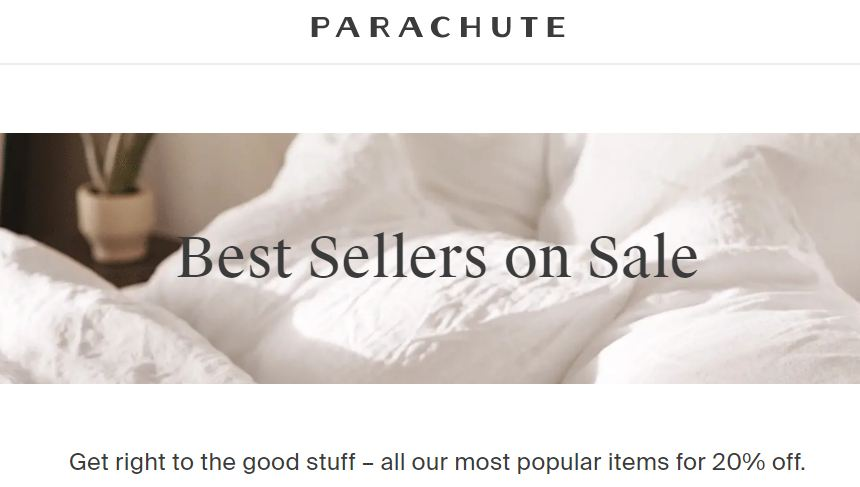 parachute home sale 2020