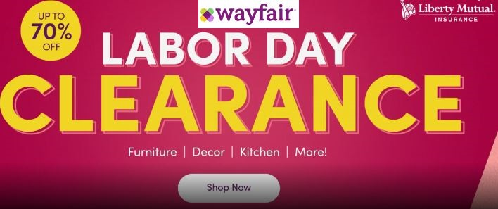 wayfair labor day sale 2020