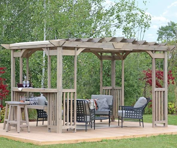Madison 14 Ft. W x 10 Ft. D Solid Wood Pergola