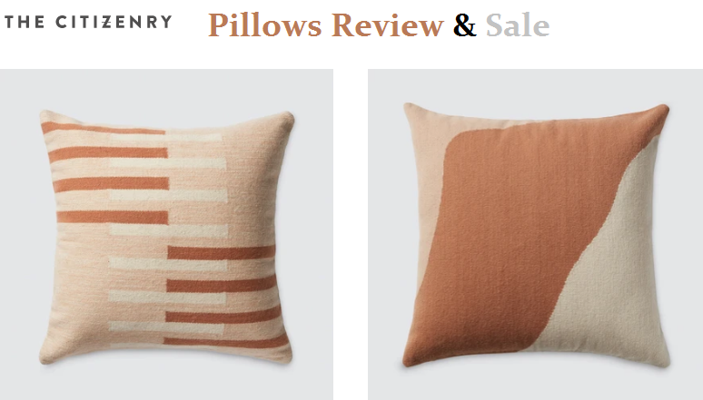 The Citizenry Pillows Reviews