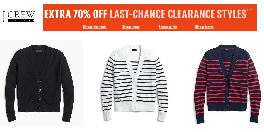 j.crew factory clearance sale