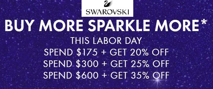 swarovski labor day sale 2020