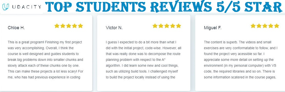 udacity student reviews
