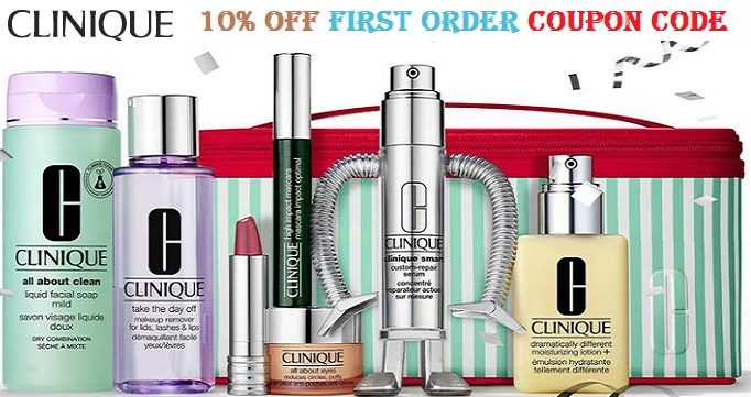 clinique coupon code first order