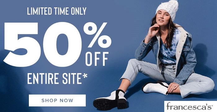 Francesca's 50 Off Sale Code