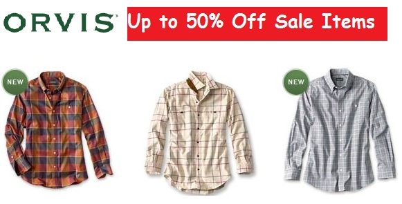 orvis clothing sale items