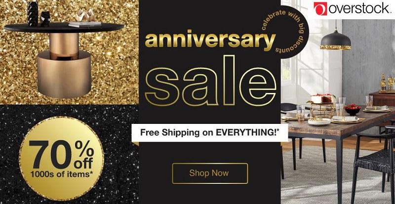 overstock anniversary sale deals