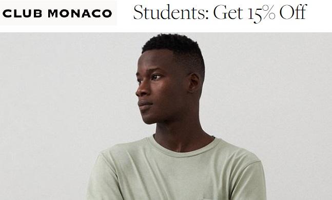 club monaco student discount code