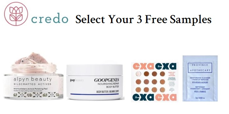 credo beauty free samples